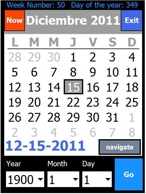 Calendario Free.Laucha Calendario V1 20 Freeware For Windows Mobile Phone