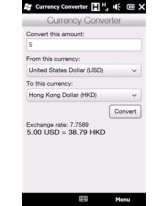 Mobile Currency Converter