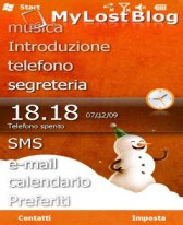 free Orange Snowman for windows mobile phone