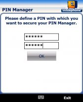 free PIN Manager for windows mobile phone