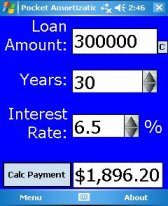 free Pocket Amortization for windows mobile phone