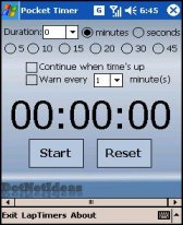 free PocketTimer for windows mobile phone