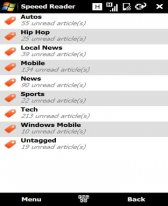 free Speeed Reader  for windows mobile phone