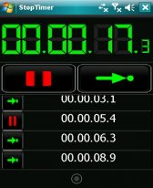 free StopTimer for windows mobile phone