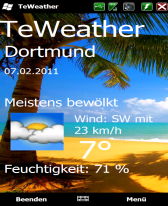 free TeWeather for windows mobile phone