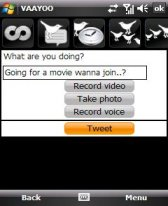 free veeTweets - video Twitter from Vaayoo for windows mobile phone