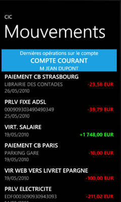 Votre banque a-t-elle son application sur Windows Phone 7?